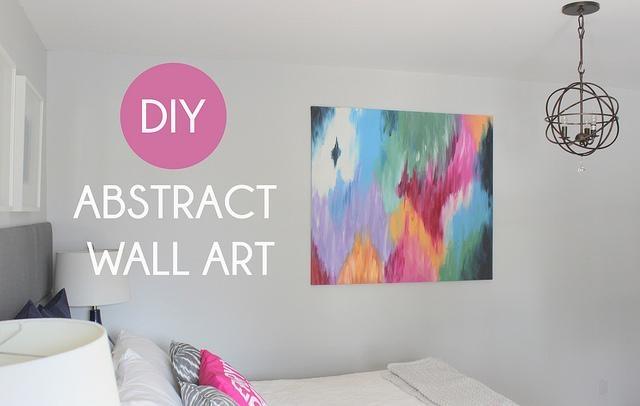 Diy Abstract Canvas Art – Beautiful Modern Contemporary House Regarding Diy Modern Abstract Wall Art (View 15 of 20)