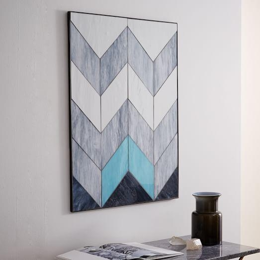 Diy Large Wall Art Inspiration Pieced Glass Wall Art | West Elm Throughout West Elm Abstract Wall Art (Image 8 of 20)