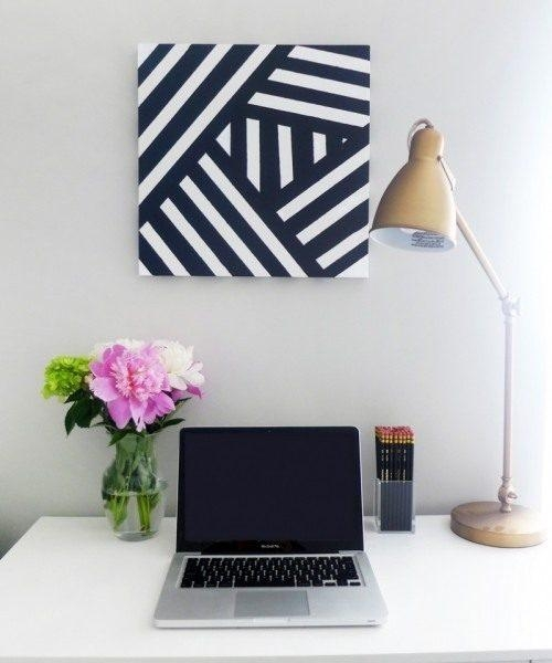 Diy Modern Black And White Abstract Art – Shelterness In Black And Within Diy Modern Abstract Wall Art (View 20 of 20)