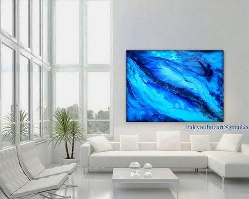 "Dwell Large Wall Art Abstract Water Or Print Up To 48""halcyon Throughout Dwell Abstract Wall Art (Image 11 of 20)"