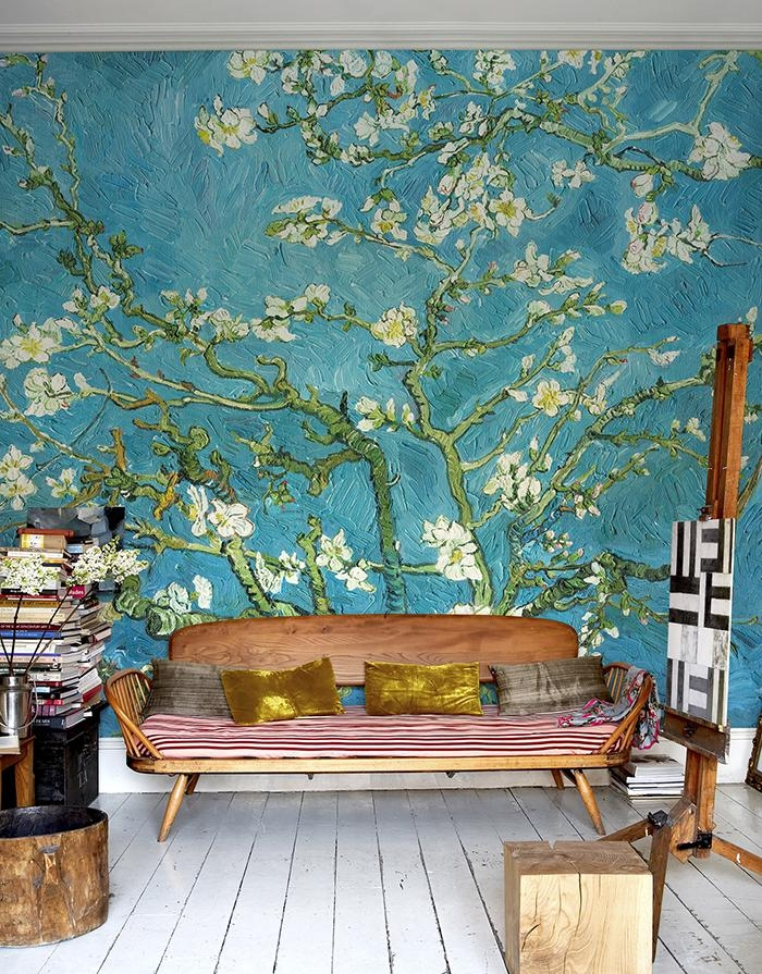 ☆Must Have This Wall Treatment Somewhere In The New House With Almond Blossoms Vincent Van Gogh Wall Art (Image 1 of 20)