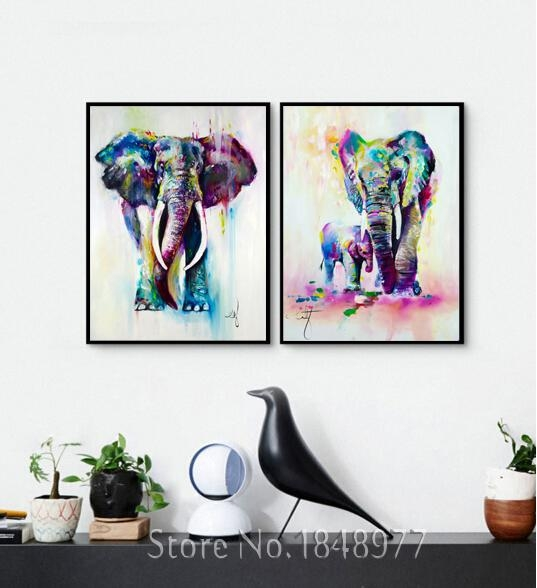 Featured Image of Abstract Elephant Wall Art