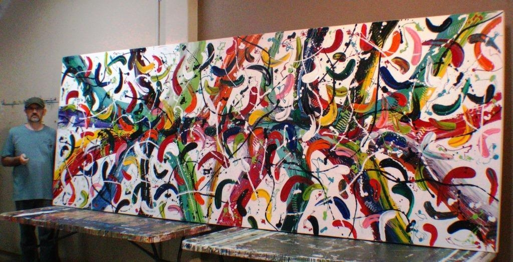 Extra Large Abstract Canvas Art Carnivale Glenn Farquhar Abstract Pertaining To Extra Large Abstract Wall Art (Photo 12 of 20)
