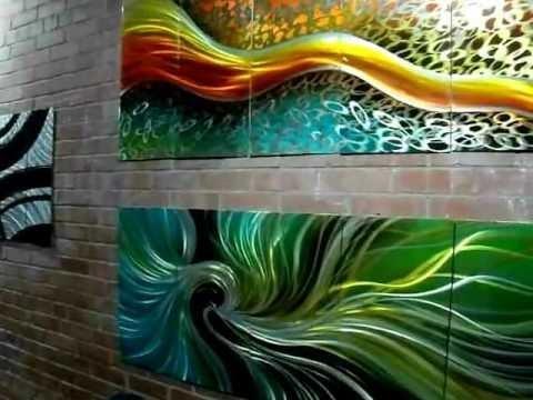 Fabuart Abstract Metal Wall Art Artwork Toronto Montreal Aluminium With Regard To Abstract Aluminium Wall Art (View 6 of 20)