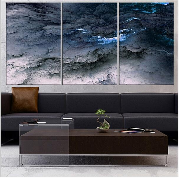 Fineart Collection Dark Blue Abstract Wall Painting For Home Decor For Dark Blue Abstract Wall Art (Image 13 of 20)