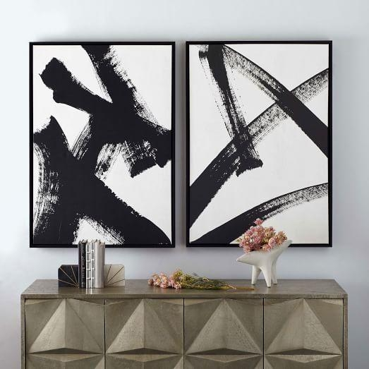 Framed Print – Abstract Running Man | West Elm With West Elm Abstract Wall Art (Image 11 of 20)
