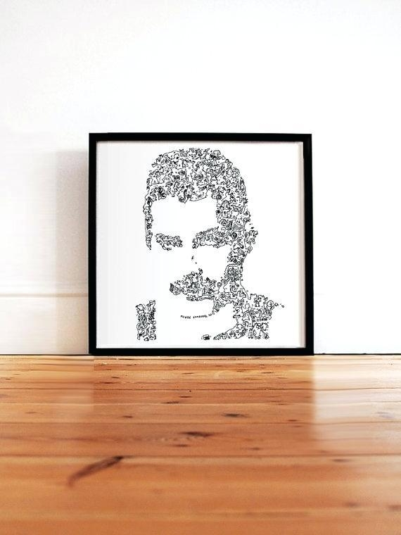 Freddie Mercury Wall Art Mercury Poster Queen Fine Art Print Throughout Limited Edition Wall Art (View 12 of 20)