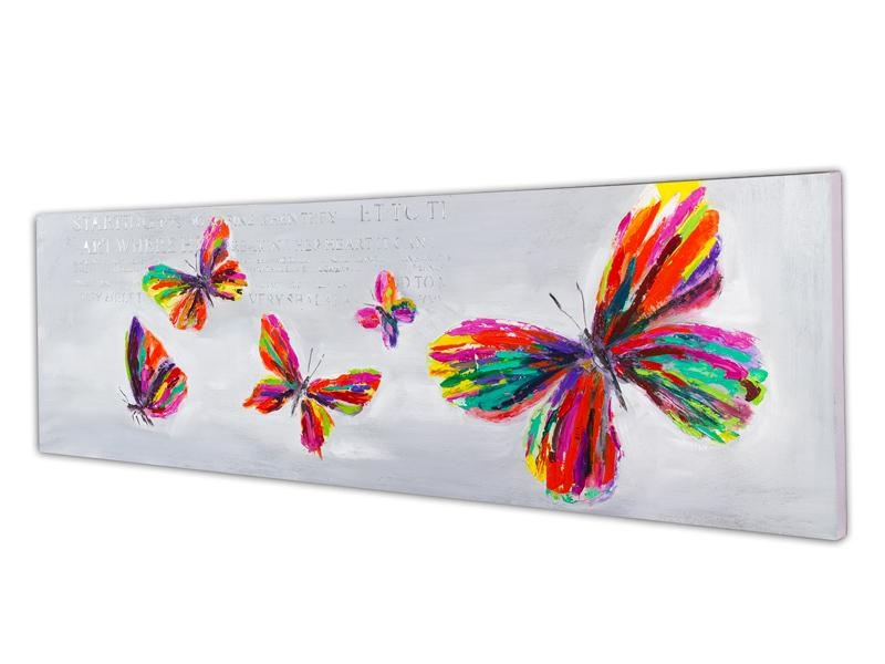 Free Shiping Abstract Butterfly Painting Handmade Home Decoration Pertaining To Abstract Butterfly Wall Art (View 20 of 20)