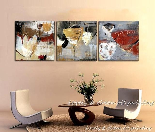 Free Shipping Wall Art High Quality Abstract Paintings Still Life Throughout Abstract Wall Art For Dining Room (Image 9 of 20)