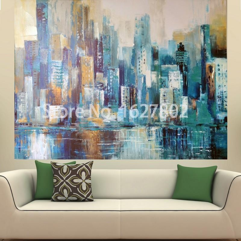 Fresh Ideas Large Abstract Wall Art With Landscape Painting Print Inside Big Abstract Wall Art (Image 4 of 20)