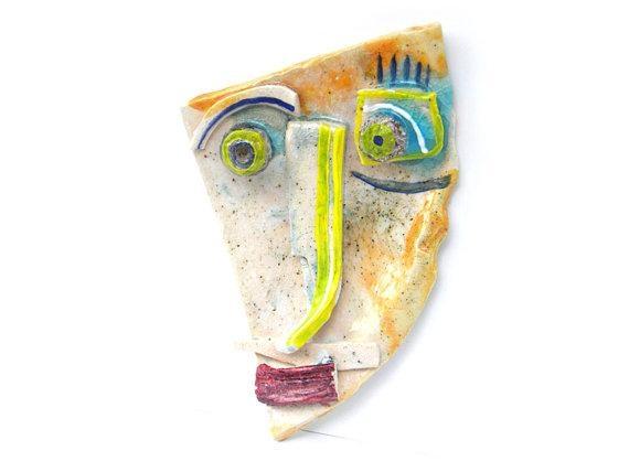 Geometric Wall Mask, Abstract Ceramic (Wall Art), 3D Wall Art With Abstract Ceramic Wall Art (Image 17 of 20)
