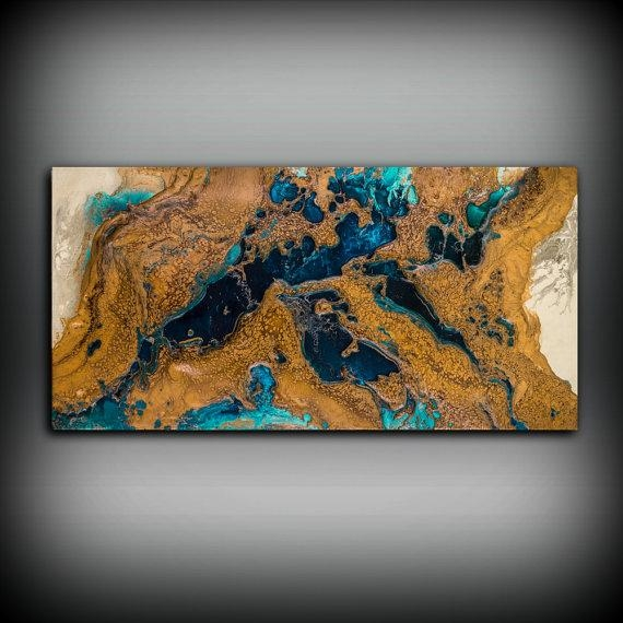 Giclee Abstract Fine Art Print From Original Acrylic Abstract Within Abstract Copper Wall Art (Image 10 of 20)