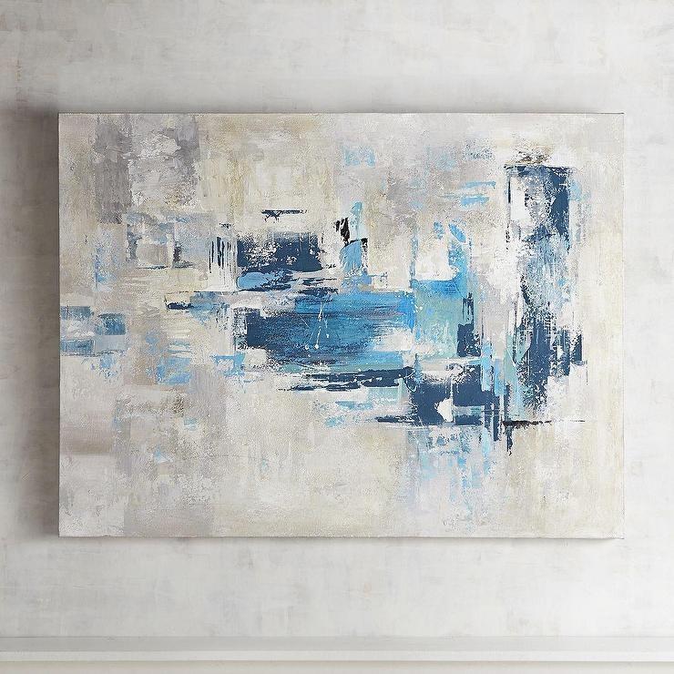 Gray Abstract Wall Art Inside Blue Abstract Wall Art (Photo 2 of 20)