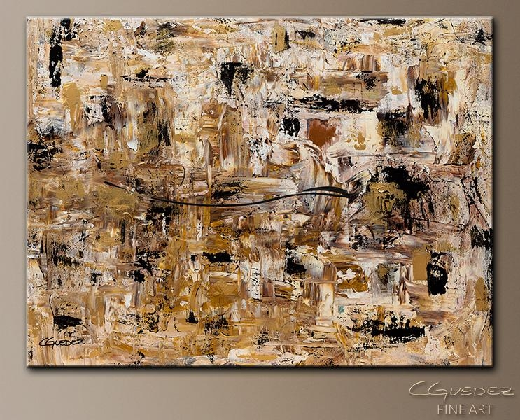 Hand Made Wall Art Touch Of Gold – Large Abstract Painting – Gold In Black And Gold Abstract Wall Art (Image 13 of 20)