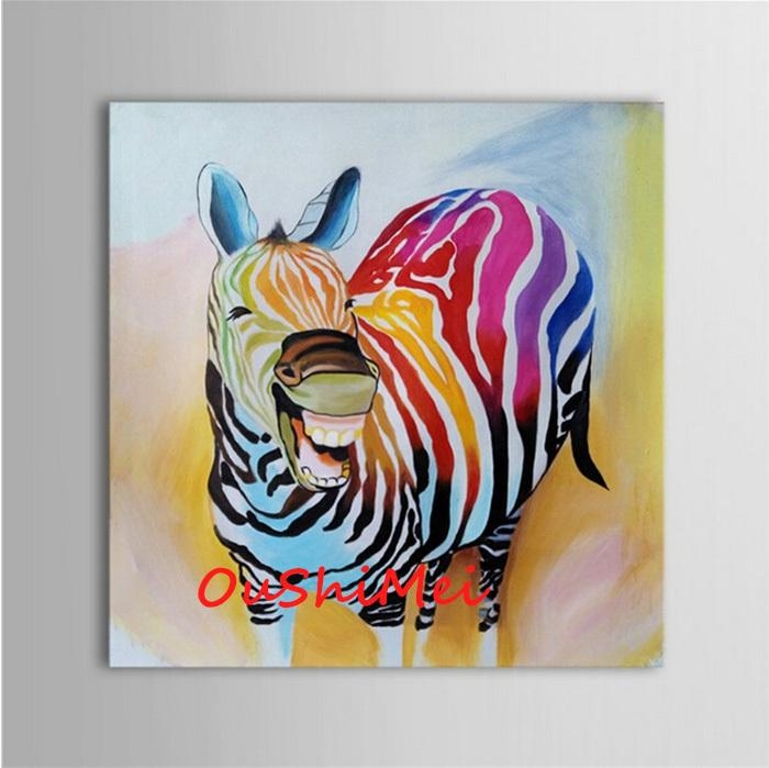 Hand Painted Abstract Animal Pictures Canvas Art Oil Painting Within Abstract Animal Wall Art (Image 15 of 20)