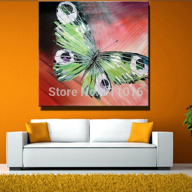 Hand Painted Abstract Butterfly Picture Home Decor Knife Oil With Abstract Butterfly Wall Art (View 16 of 20)