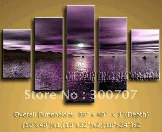 Featured Image of Dark Purple Abstract Wall Art