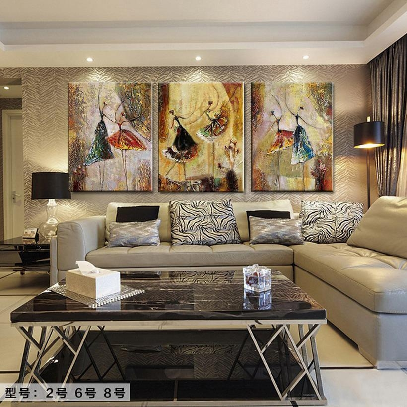 Hand Painted Home Decor Canvas Abstract Oil Painting Abstract Throughout Diy Abstract Canvas Wall Art (Image 11 of 20)