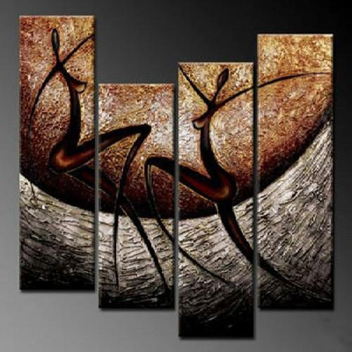 Hand Painting Oil Painting Living Room Decor Wall Paintings Group With Regard To Abstract Body Wall Art (Image 10 of 20)