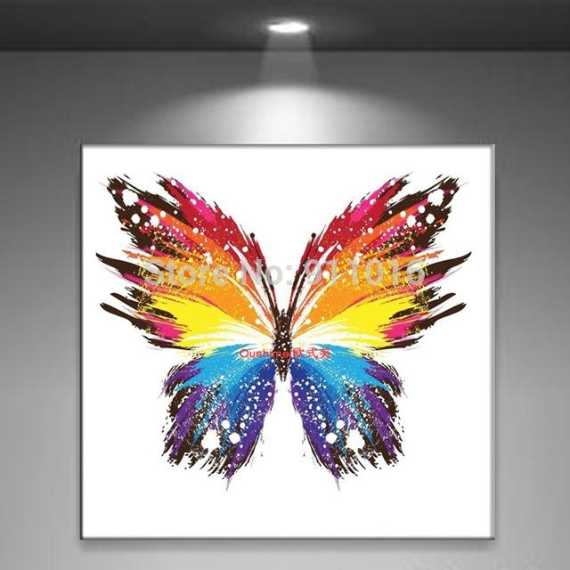 Featured Image of Abstract Butterfly Wall Art