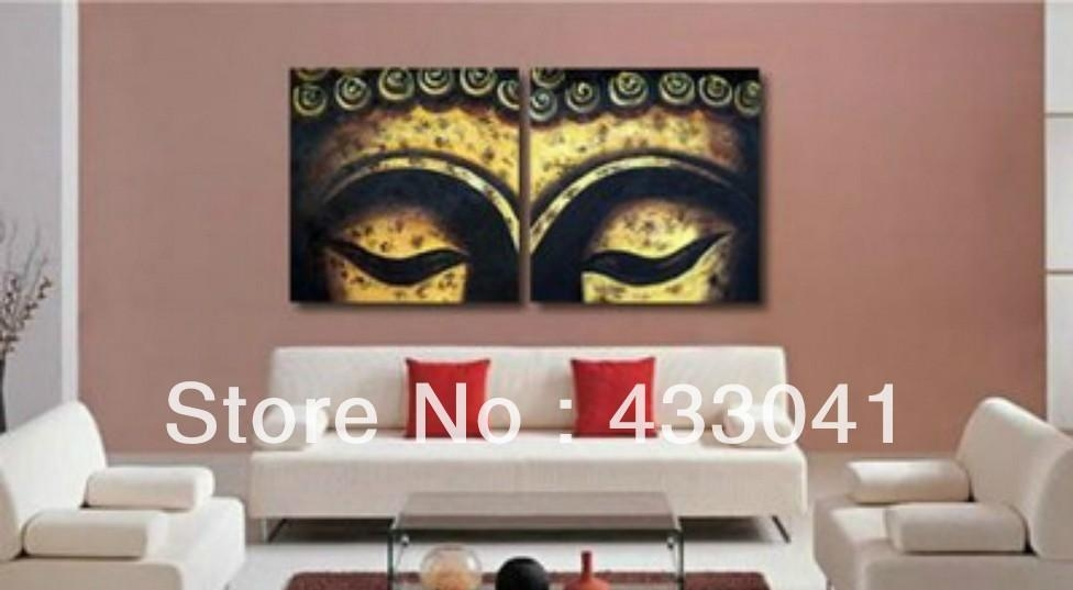 Handmade Bamboo Face Oil Painting Buddha Canvas Art Abstract In Abstract Buddha Wall Art (View 8 of 20)