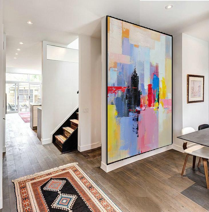 Handmade Extra Large Contemporary Painting, Huge Abstract Canvas In Extra Large Abstract Wall Art (Image 10 of 20)