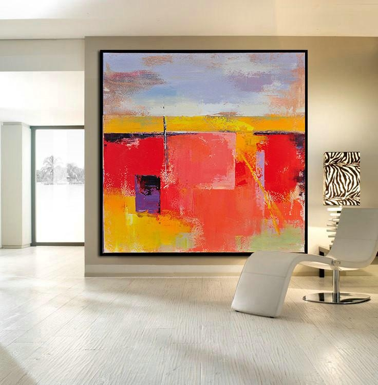 Handmade Large Contemporary Art Canvas Painting, Original Art For Acrylic Abstract Wall Art (Image 11 of 20)