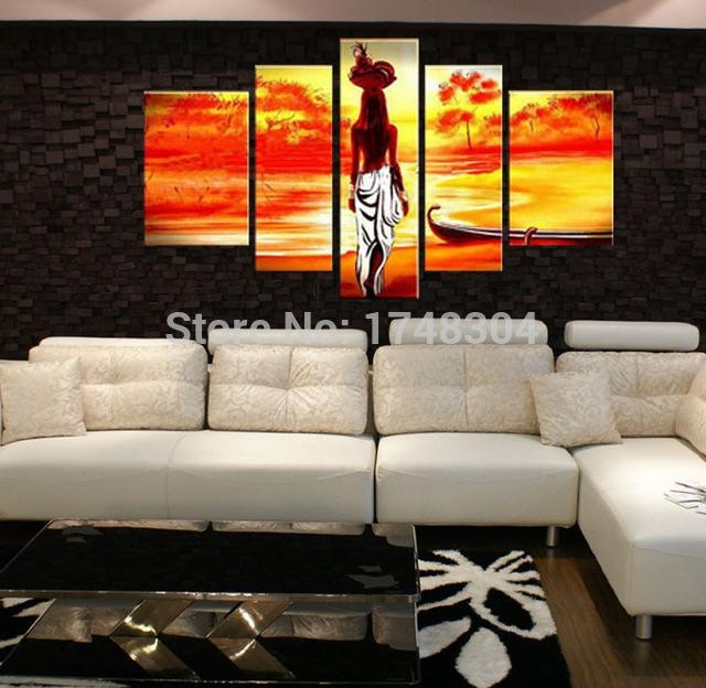 Handpainted Black Shadow Nude Oil Paintings Modern Abstract Naked With Abstract Body Wall Art (Image 14 of 20)
