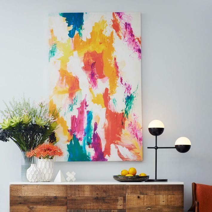 Home Décor Trends For 2015 Pertaining To West Elm Abstract Wall Art (Image 12 of 20)
