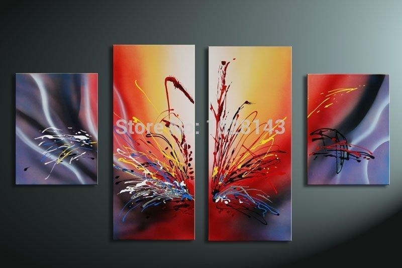 Home Decoration Eagle Painting Wall Decor Abstract Birds Canvas Inside Colourful Abstract Wall Art (Image 9 of 20)