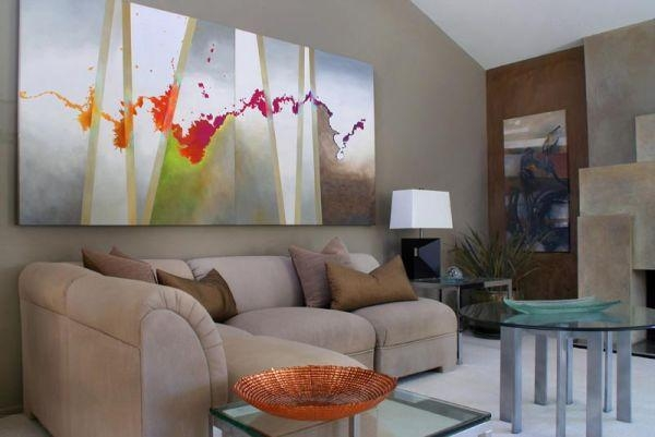 How To Use Abstract Wall Art In Your Home Without Making It Look In Bold Abstract Wall Art (Image 13 of 20)