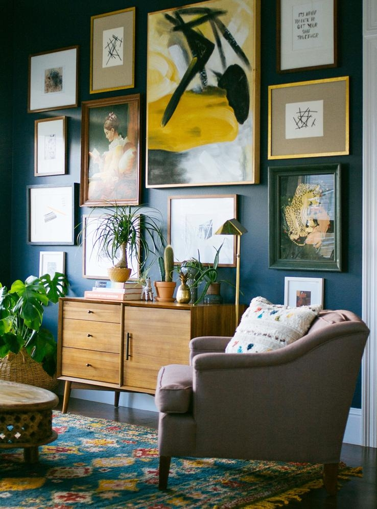 I Want That Wall! 5 Easy Steps To Hanging Art – Front + Main With West Elm Abstract Wall Art (Image 13 of 20)