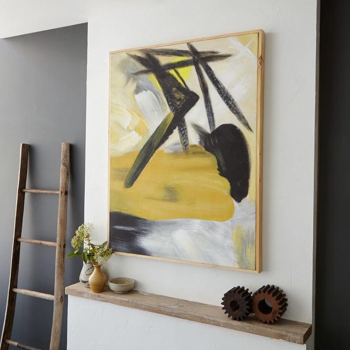 I Want That Wall! 5 Easy Steps To Hanging Art – Front + Main Within West Elm Abstract Wall Art (Image 14 of 20)