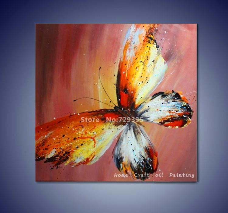 "Imax Worldwide Home ""lavinia Butterfly"" Oil Painting – Google Intended For Abstract Butterfly Wall Art (View 10 of 20)"