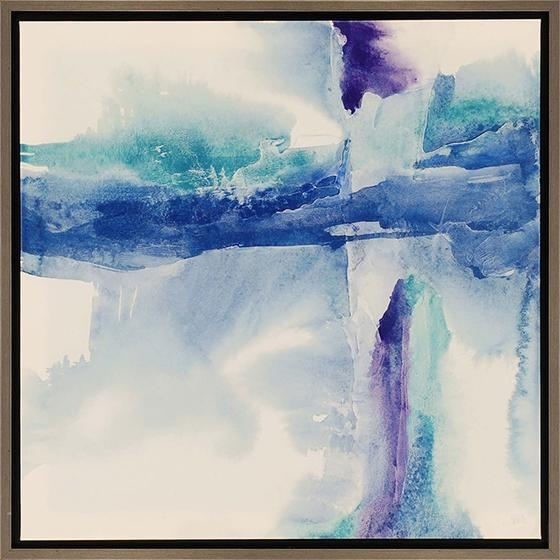 Jewel Tones Framed Wall Art Inside Blue Abstract Wall Art (Image 12 of 20)