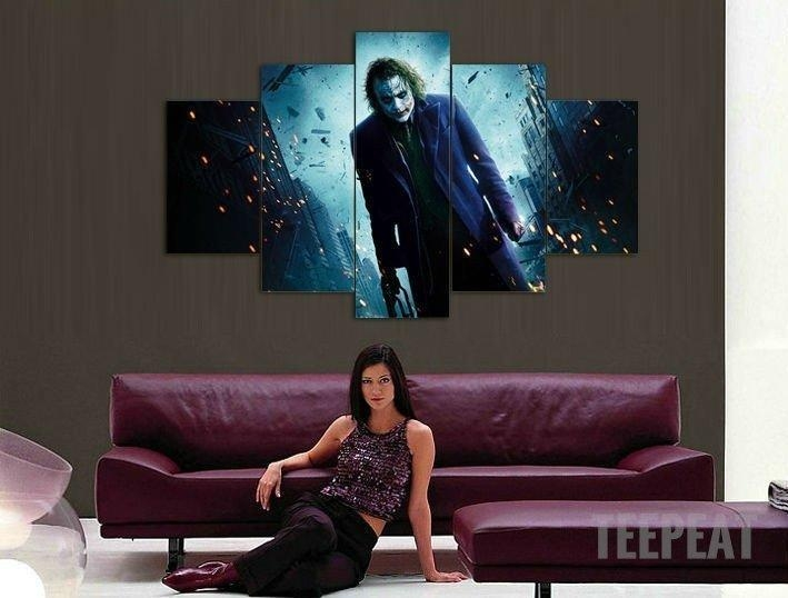 Joker In Gotham – 5 Piece Canvas Limited Edition | Gotham, Joker For Limited Edition Wall Art (View 6 of 20)