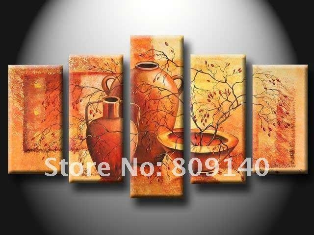 Kitchen Dining Room Oil Painting Canvas Abstract Artwork Big Size With Abstract Wall Art For Dining Room (View 12 of 20)