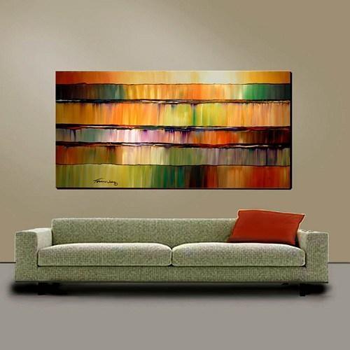 Large 24X48 Original Painting Modern Impasto Abstract Wall Art Inside Large Abstract Wall Art (Image 6 of 20)
