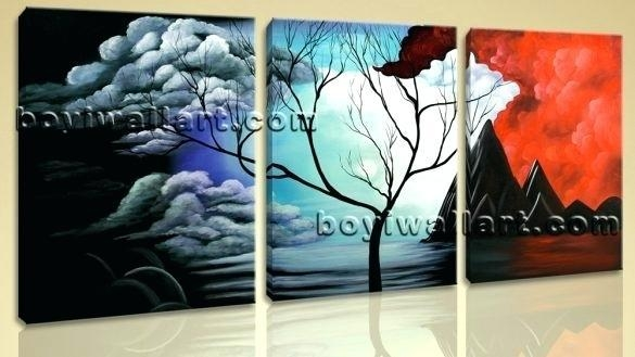 Large Abstract Canvas Art New Arrival Modular Large Abstract World In Large Abstract Wall Art Australia (Image 7 of 20)