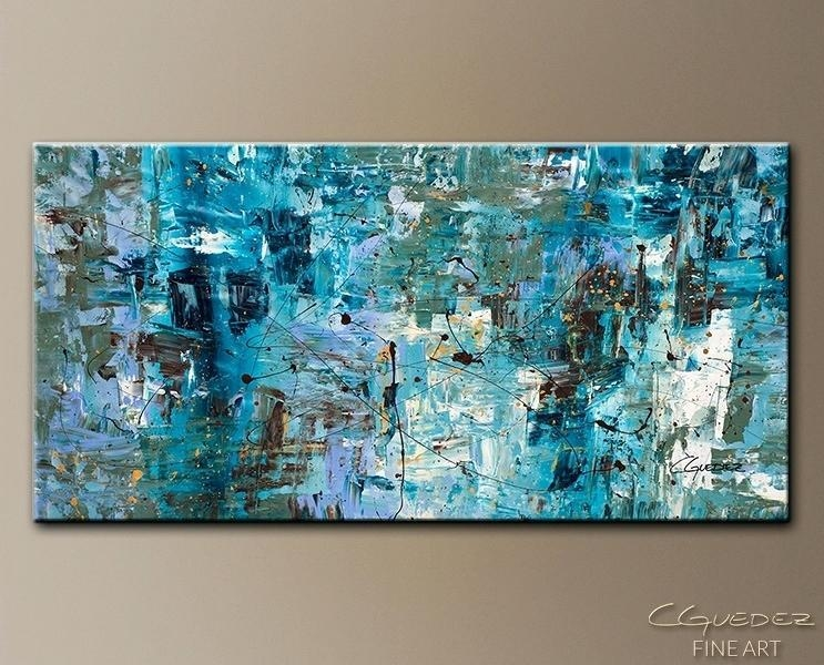 Large Abstract Wall Art #13256 Regarding Blue Green Abstract Wall Art (Image 11 of 20)