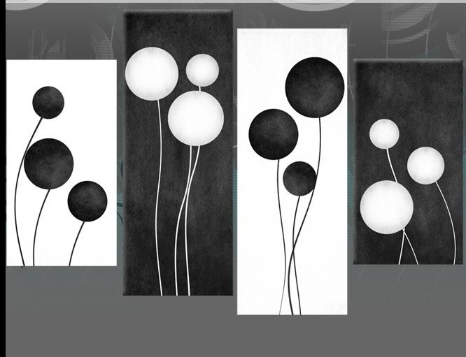 Large Black And White Abstract Circles Canvas Pictures Wall Art With Regard To Black And White Abstract Wall Art (View 3 of 20)