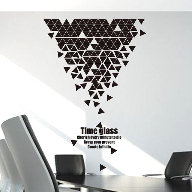 Large Custom Wall Stickers Stickers Creative Living Room Regarding Abstract Art Wall Decal (Image 12 of 20)