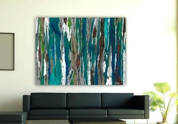 Large Teal Wall Art – Boyintransit Inside Extra Large Canvas Abstract Wall Art (Image 14 of 20)