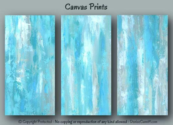Large Teal Wall Art – Boyintransit Throughout Blue Abstract Wall Art (View 9 of 20)