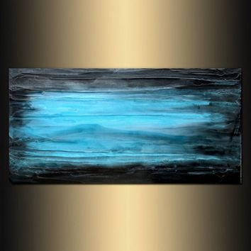 Large Wall Art, Abstract Art, From Holly Anderson Fine Art With Aqua Abstract Wall Art (Image 14 of 20)