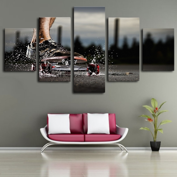 Limited Edition Skateboard Canvas Wall Art Regarding Limited Edition Canvas Wall Art (View 10 of 20)