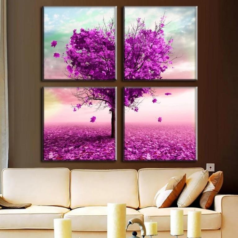 Living Room : Wonderful Dark Purple Wall Art Purple Baby Wall Art Regarding Dark Purple Abstract Wall Art (View 11 of 20)