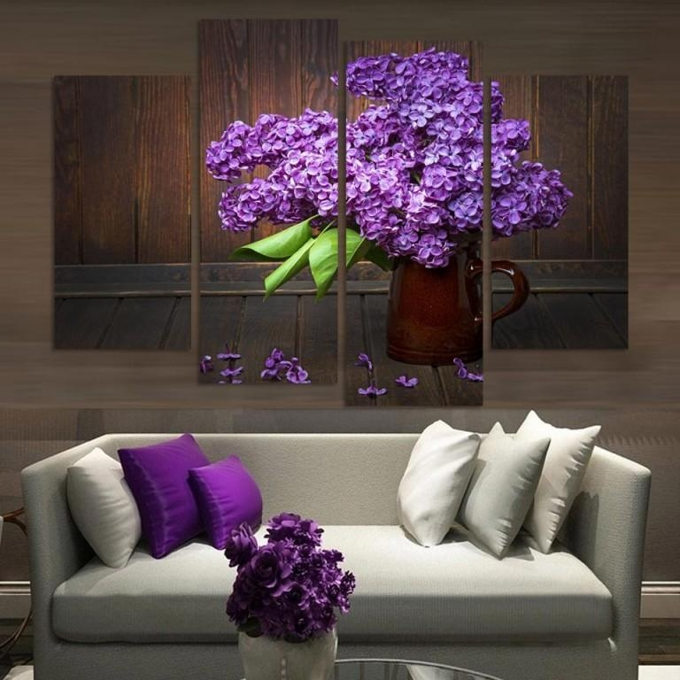 Living Room : Wonderful Dark Purple Wall Art Purple Baby Wall Art With Regard To Dark Purple Abstract Wall Art (View 9 of 20)