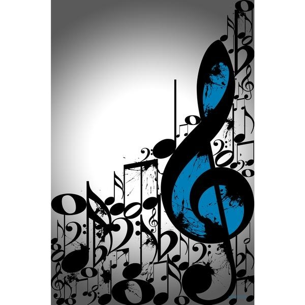 Maxwell Dickson 'music Notes' Typography Wall Art | Art Work Within Abstract Musical Notes Piano Jazz Wall Artwork (Image 10 of 20)