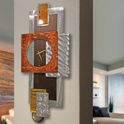 Metal Art Clocks Modern Abstract Clock Metal Wall Art Sculpture With Abstract Clock Wall Art (Image 15 of 20)
